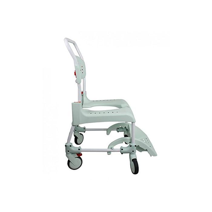 41uXej4O69L CLEAN es lo último en diseño de sillas para la higiene. Cómoda, segura y fácil de usar. Cada detalle de la Silla de ducha y w.c. ha estado pensado para que cualquier situación sea de lo más fácil para el usuario y para el cuidador. Esta silla es apta para la ducha.