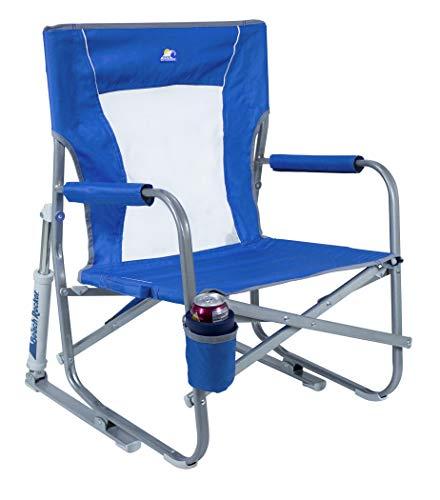 GCI Outdoor Waterside Beach Rocker Portable Folding Low Rocking Chair (Renewed)
