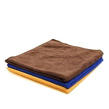 eDealMax 3pcs 300g 40 x 40 cm Azul Amarillo del Color del café de absorción de
