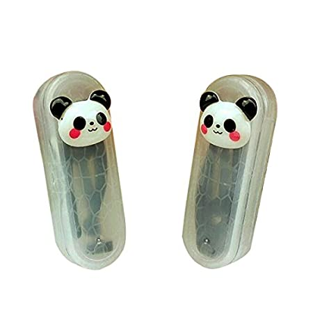 Product details:   Material:Plastic + Soft Silicone Size: Case:6.7 cm x 2.5 cm x1.3 cm (L x W x H) / 2.63 '' x 0.98'' x 0.51 '' Stick:4.1 cm/1.6 ''(Length) Tweezers:4.8 cm/1.88 ''(Length) Minimizes delicate lens contact with hands (dirty, rough or in...