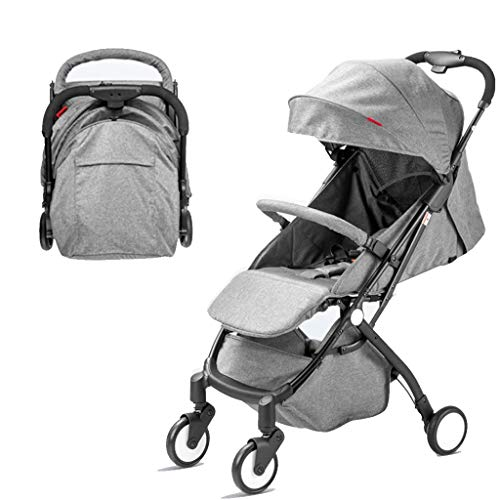 $258.13 Target Infant Car Seats Heay Baby Stroller Newborn Buggy Canopy Infant Prams All Terrain Ultra Compact Toddler Pushchair, Cabin Luggage Compliant, from 0 Months to 3 Ages (Color : Gray) 2019