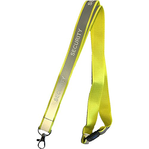 (Reflective Security Lanyard with Safety Breakaway (Reflective Yellow))
