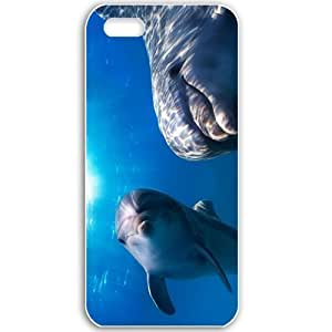 Apple iPhone 5 5S Cases Customized Gifts For Animals animals dolphins 15951 Black