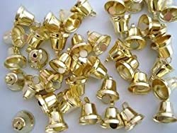 "100pc Small 1/2"" Gold Jingle Bell (M6-Gold)"
