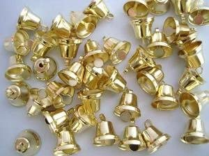 100pc Small 1//2 Gold Jingle Bell M6-Gold