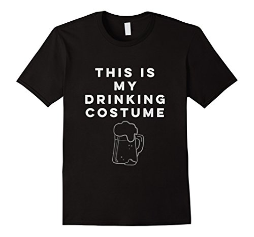 Mens This is My Drinking Costume Halloween Tee Large Black