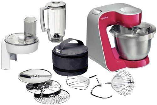 Bosch MUM54420 - Robot de cocina (Rojo, Plata, 280g, 27,1 cm, 28,2 cm, 900W, 50-60 Hz): Amazon.es: Hogar