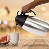 Coffee Thermos Thermal Carafe | Large 12 Cup 68 Oz 2 Liter Capacity | Stainless Steel with Double Wall Vacuum Insulation | Travel Tested to Keep Drinks Hot or Cold for 12+ Hours For Sale
