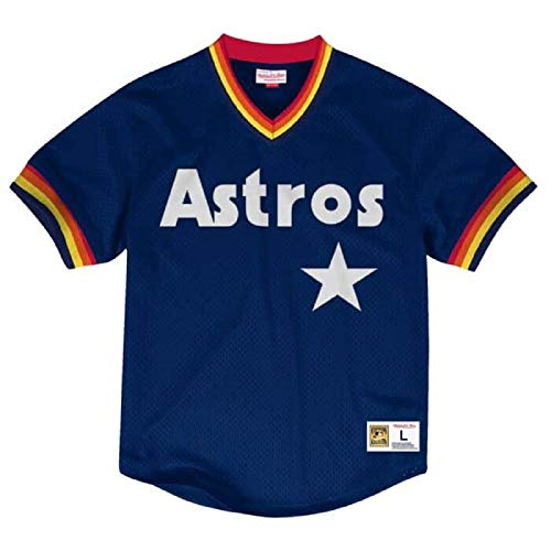 Mitchell & Ness Houston Astros MLB Men's Dinger Mesh Jersey Shirt