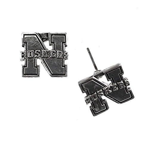 Seasons Jewelry Nebraska Cornhuskers Logo Stud Earring (Nebraska Cornhuskers Earring)