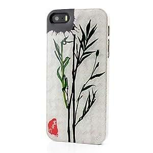 GDW pc bambú flor de verdad ejemplares chinos caso elementos de la cultura para el iphone 5 / 5s