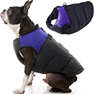 Gooby 74003-PUR-L Padded Cold Weather Vest for Small Dogs with Safe Fur Guard Zipper Closure, Large Chest (20&