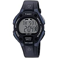 Men's T5H591 Ironman Classic 30 Full-Size Black/Dark Blue Resin Strap Watch