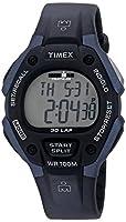 Timex Men's T5H591 Ironman Classic 30 Full-Size Black/Blue Resin Strap Watch