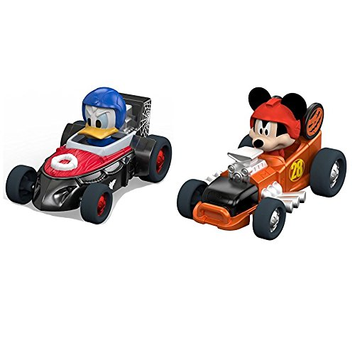 Mickey and the Roadsters Limited Edition Halloween Diecast Car bundle -- 2 items: Mickeys Halloween Spookster and Donalds Fright (Daffy Duck Halloween)