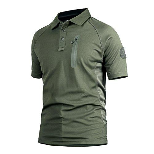 QCHENG Polo Militaire Camouflage Uniforme Tactique Séchage Rapide Manche Courte Hommes T-Shirt de Airsoft Combat Chasse… 1