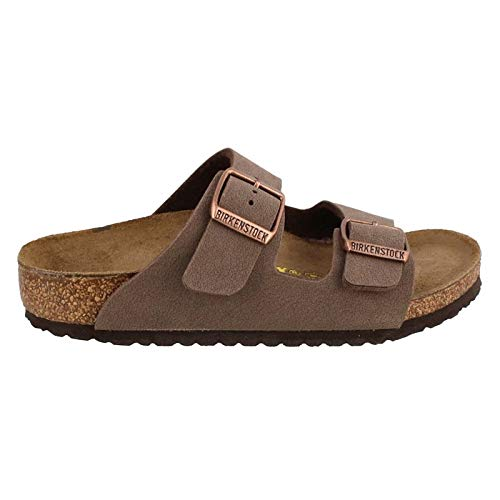 (Birkenstock Arizona Birko-Flo Mocha Birkibuc Sandals - 31 (US 13-13.5 Little Kid))