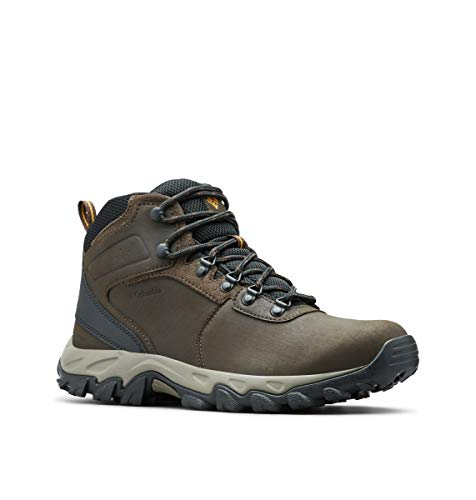 Columbia Men's Newton Ridge Plus II Waterproof Hiking Boot, Cordovan/Squash, 10 D US