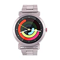 WatchOut Elegant Gen2 Raw Steel Metallica Smart Watch with Heart Rate Monitor, Call Feature, Notification, Health Tracker with Stainless Steel Strap