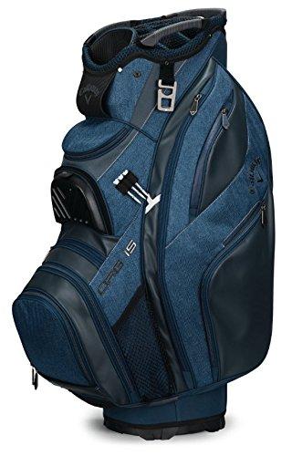 Golf Cart Cooler Callaway (Callaway Golf 2018 Org 15 Cart Bag, Black/Titanium/Silver, Black/White/Titanium, Titanium/Navy/White)