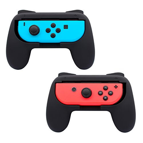 FASTSNAIL Grips for Nintendo Switch Joy-Con, Wear-resistant Handle Kit for Switch Joy Cons Controller, 2 Pack (Black) by FASTSNAIL (Image #7)