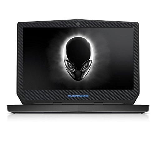 Black Carbon Fiber skin decal wrap skin Case for Dell Alienware 13 13.3