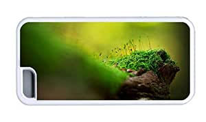 Hipster designer iPhone 5C covers green moss White for Apple iPhone 5C