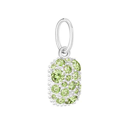 Chamilia Women's Birthstone Galaxy August - Swarovski Zirconia Bead Charm, Green, One ()