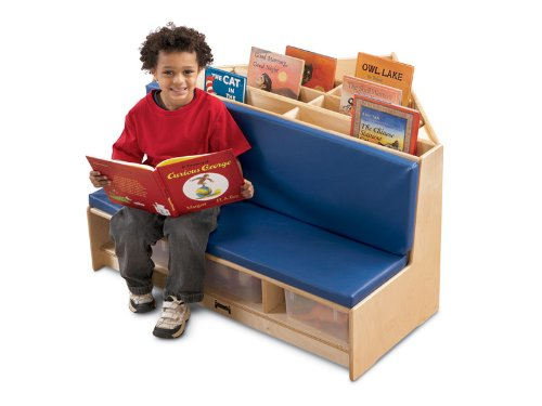 Jonti-Craft 53430JC Corner Literacy Nook, Blue