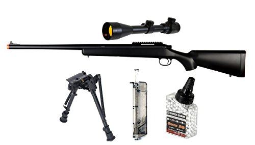 Airsoft VSR11 Sniper Rifle Set with 3X9X40EG Scope, Bipod,Speed loader and 0.20g 500 BB - Gun Set Sniper