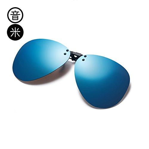 Silver Clip Regalo Sol Drive LLZTYJ De Polarized Gafas blue Gafas Outdoor Gafas Clip Cumpleaños Gafas Wind De Mirror Uv Mujeres Decoración Sol Sol De Polarizado qRBRAv