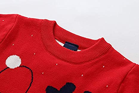 Baby Boys Girls Cotton Sweaters Toddler Infant Kids Christmas Deer Knitted Tops Sweater Pocciol Kids Xmas Sweater Outfits