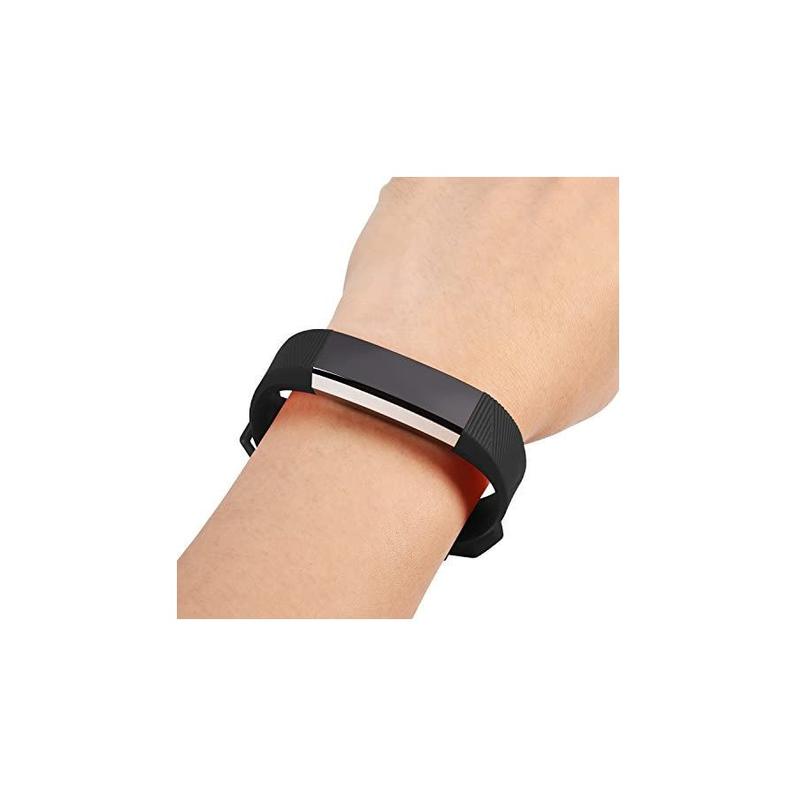 Fundro Compatible Fitbit Alta Bands, Soft Silicone Replacement Bands Available in Varied Colors Secure Buckle Fitbit Alta HR Fitbit Alta