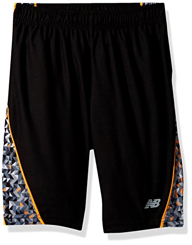 New Balance Kids Big Boys' Performance Short, Black/Impulse/Geo, (And 1 Boys Shorts)