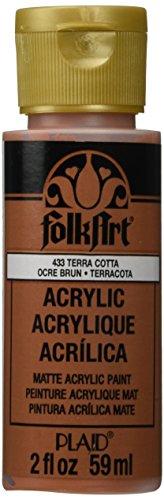 Paint Terra Cotta - FolkArt Acrylic Paint in Assorted Colors (2 oz), 433, Terra Cotta