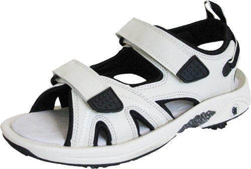 Oregon Mudders Women's Spiked Golf Sandals - Beige/Black, US Size 10