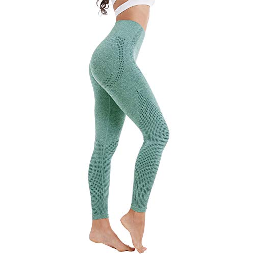 Shape Super (Aoxjox Yoga Pants for Women High Waisted Gym Sport Ombre Seamless Leggings (Forest Green Marl, Small))