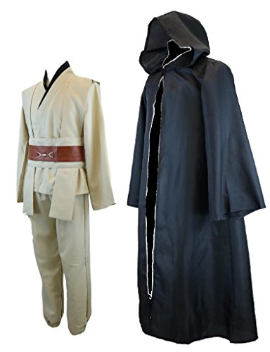 Star Wars Jedi Style Robe Costume Set [ Black ] Cosplay Set
