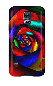 Fashion Tpu Case For Galaxy S5- Dark Flower Defender Case Cover