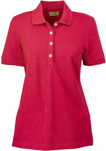 Ashworth 1146C Ladies Combed Cotton Piquà Polo-Short Sleeve Shirts-XX-Large-Carmine Red