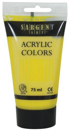Sargent Art 23-0202 75Ml Tube Acrylic Paint, Yellow/Primary Yellow Acrylic 75ml Primary