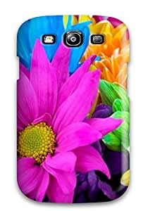 Awesome Case Cover/galaxy S3 Defender Case Cover(colorful Flower)