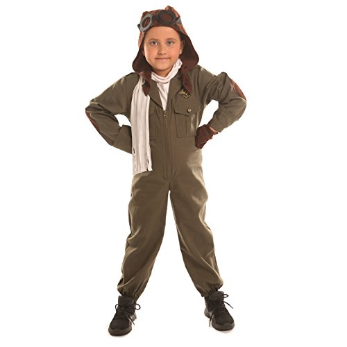 Disiao Air Force Pilot Costume for Little Boy Halloween Suits Cosplay (L)]()