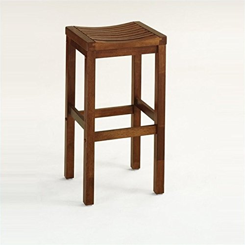 Cottage Oak Finish Seat - Home Style 5636-88 Cottage Oak Finish Bar Stool, 24-Inch
