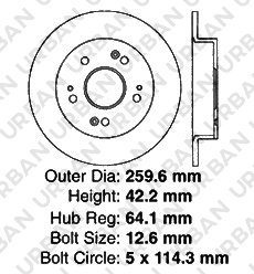 Civic ILX CSX 4 Ceramic Pads -Combo Brake Kit- SHIPS FROM USA!!-Tax Incl. Rear Kit 2 OEM Replacement Extra-Life Heavy Duty Brake Rotors