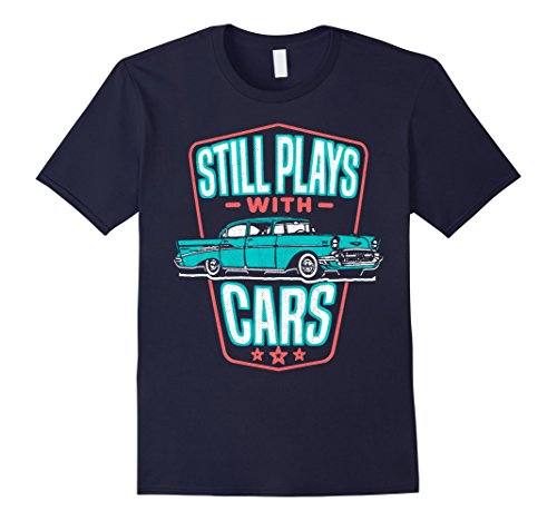 h Cars Shirt Classic '57 Automobile Auto Gift Medium Navy ()