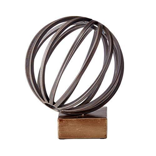 逆輸入 ベラックメタルGlobe Figurine ブラウン L ブラウン MP167-0091 ブロンズ B0727R1C4K B0727R1C4K ブロンズ Large, オオヅマチ:0a3f4a53 --- mrplusfm.net