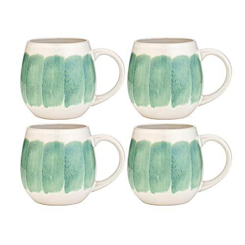 Amici Home 7CN517S4R Peridot Reactive Glaze Ceramic Coffee Mug 24 Fluid Ounces Green and -