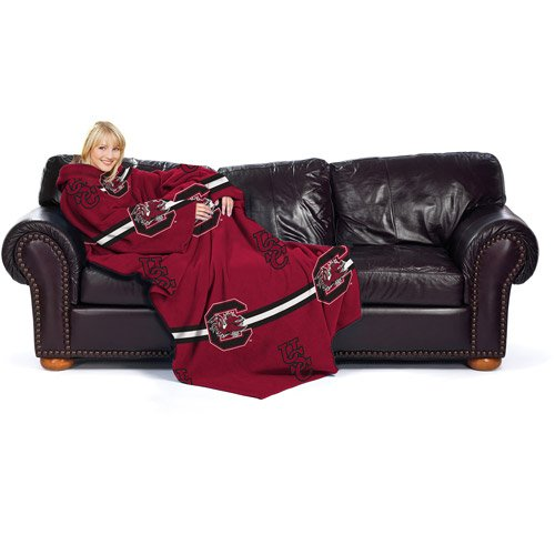 (University of South Carolina Gamecocks Fleece Comfy Throw - The Blanket with Sleeves)