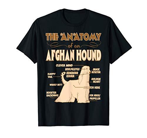 The Anatomy Of Afghan Hound Pet Lovers Gift Tshirt ()